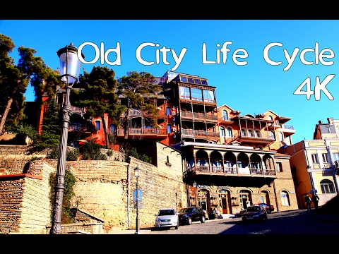 Tbilisi - Old City Life Cycle 4K