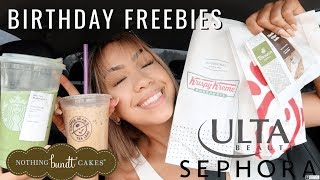 GETTING MY FREE BIRTHDAY TREATS/REWARDS!!