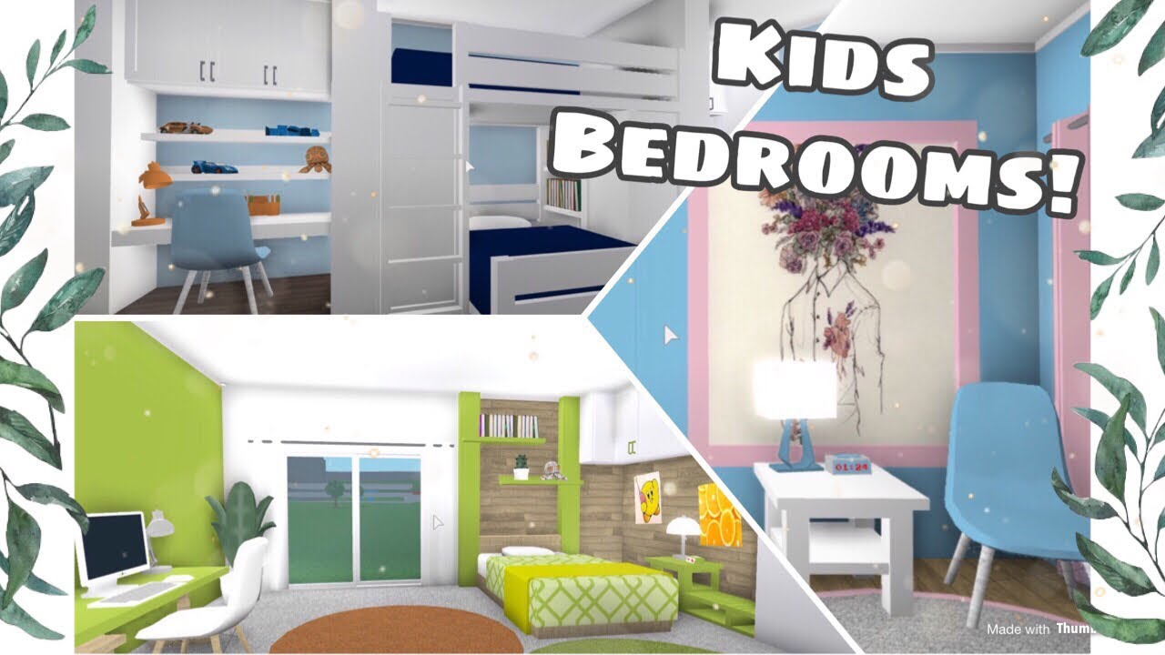 Roblox Bloxburg Kids Bedroom Designs Youtube