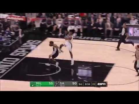 Patty Mills shows incredible speed on transition defence | Bucks v Spurs 11 Nov 2017
