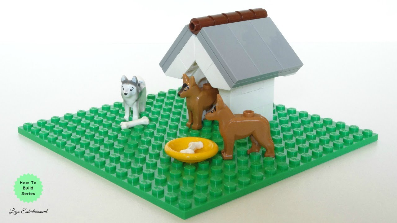 How To Build A Lego Dog House Tutorial Youtube