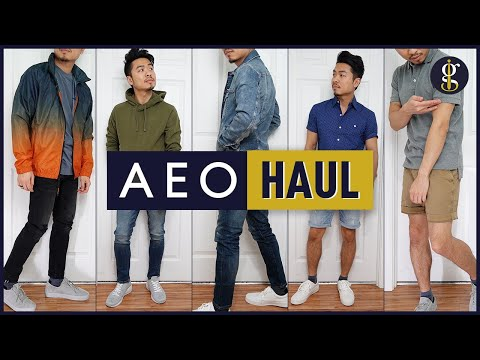 AMERICAN EAGLE Men's Try-On Haul & Review | Spring/Summer Style (5 Casual Outfits)