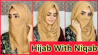 How To Wear Hijab With Niqab In Summer Without Inner Cap | Easy Hijab Tutorial | Dietitian Aqsa