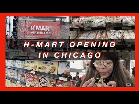 [VLOG] H-MART GRAND OPENING 2018 + MINI ASIAN SNACK HAUL