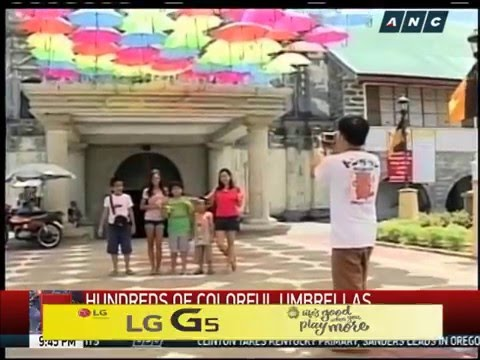 Colorful umbrellas showcased in Sta. Rita, Pampanga
