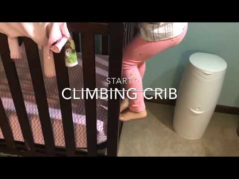 How to stop toddler climbing out of crib. Try this