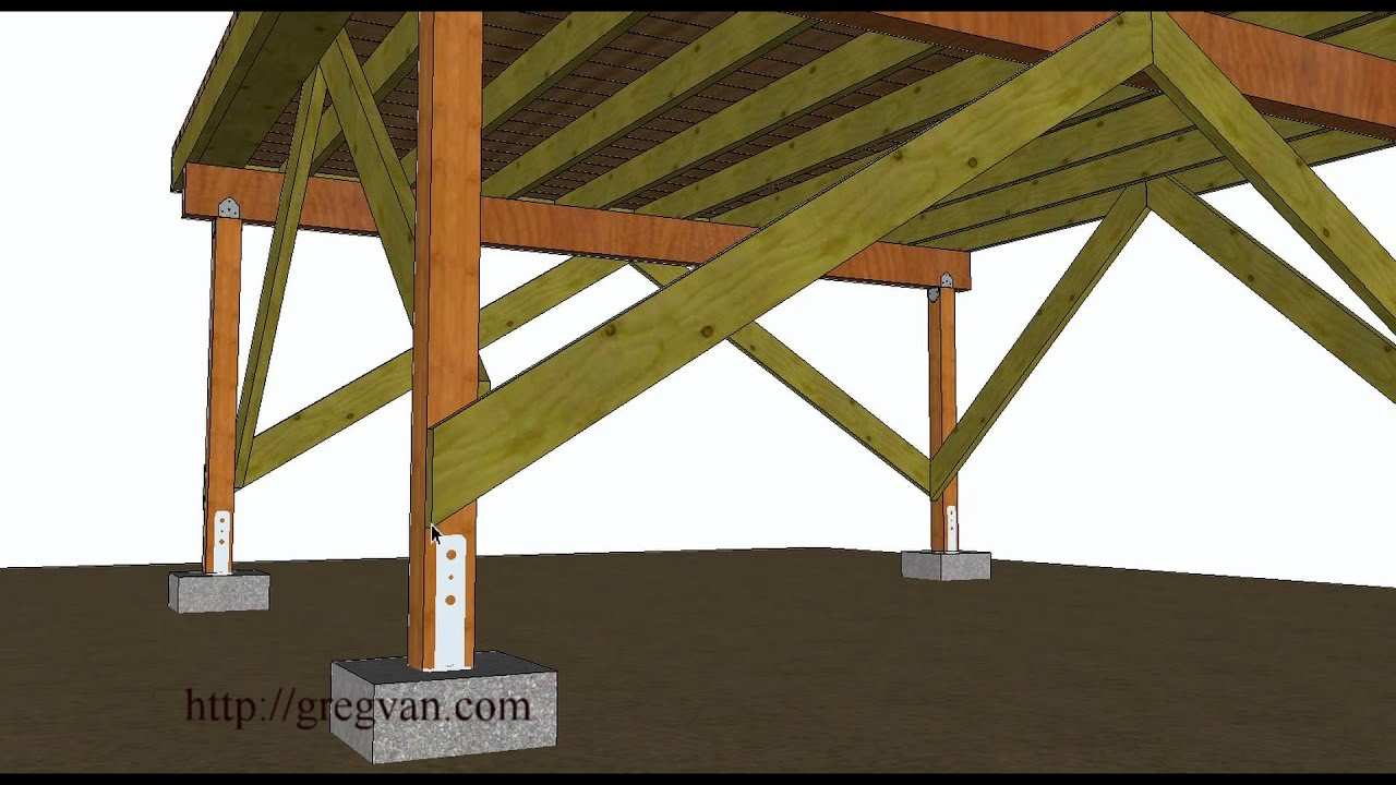 Stand Alone Deck Designs : A few ways to brace off free standing wood framed deck youtube