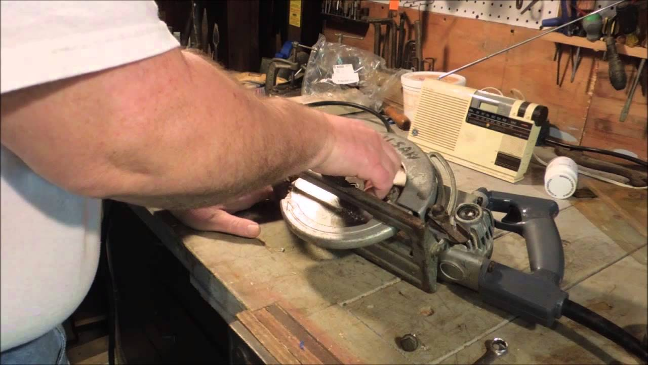 Skilsaw model 77 pt 4 changing the blade and testing a video skilsaw model 77 pt 4 changing the blade and testing a video tutorial by old sneelocks workshop greentooth Image collections