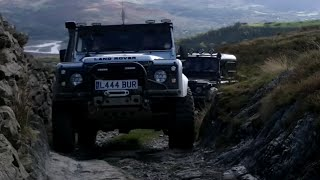 Green Laning at Happy Valley, North Wales with Land Rovers