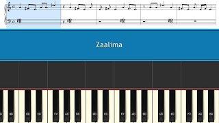 Zaalima - (Raees) -Arijit Singh & Harshdeep Kaur - Piano Tutorials + Music Sheet + (MIDI) File