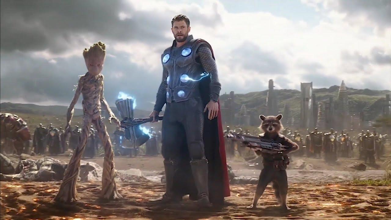 Avengers Infinity War Thor Arrives in Wakanda in Reverse
