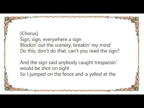 Five Man Electrical Band - Signs LP Version Lyrics