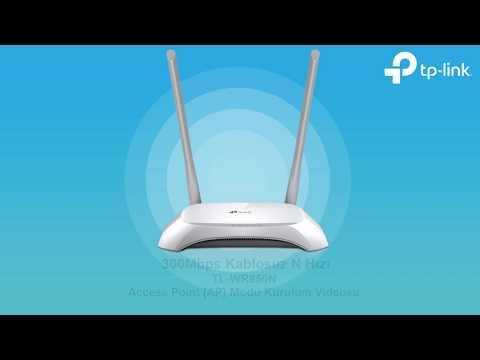 TP-Link TL-WR850N Erişim Noktası (Access Point) Kurulum Videosu