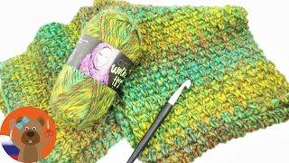 Плотный теплый зимний шарф с узором жемчужины | Просто, быстро и тепло! | Урок вязания крючком