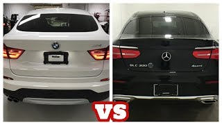 2019 BMW X4  = VS = 2018 Mercedes-Benz GLC300 Coupe. The Most Powerful and Luxury Midsize SUV.