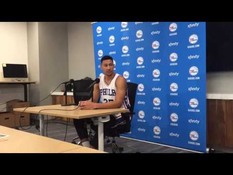 Ben Simmons at Sixers media day