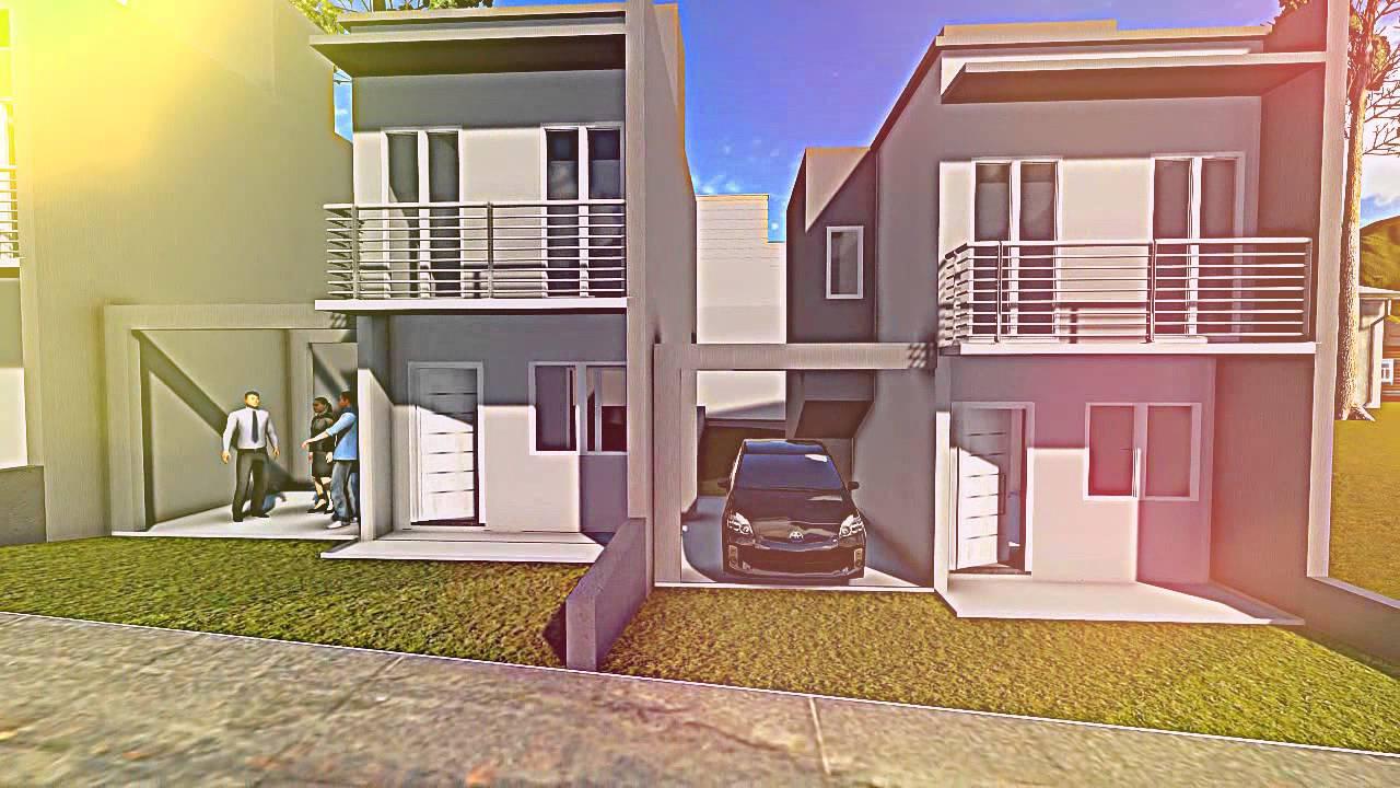 Projetos de casas modelo de um sobrado pequeno youtube for Modelos de frentes de casas