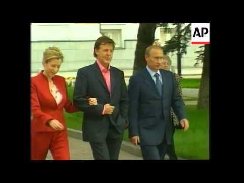 VOICER Former Beatle on Moscow tour meets Russian president