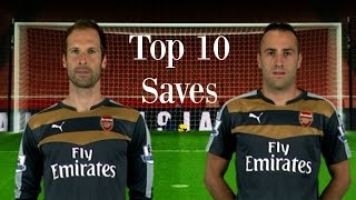 Petr Čech & David Ospina - Top 10 Saves 2015/16 [HD]