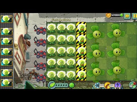 Every Zombot Fight! Plants vs Zombies 2 Max Level Plants  Power Up vs All Zomboss
