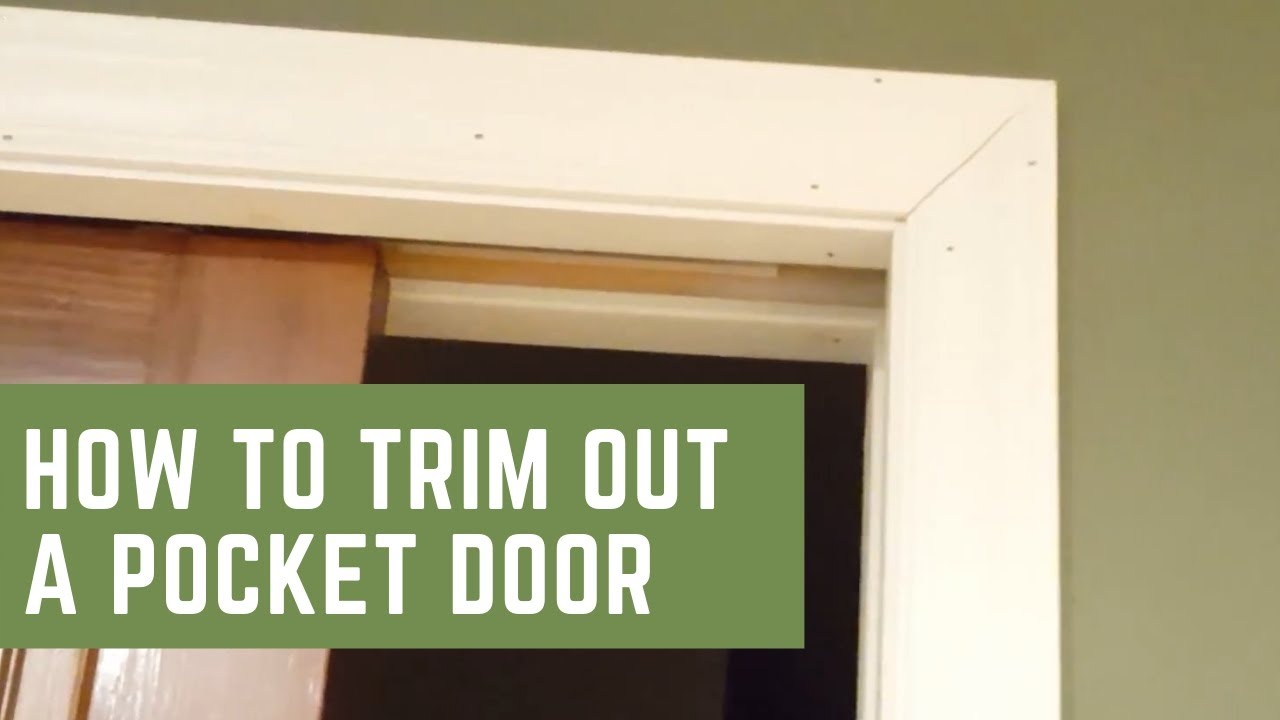 How To Trim Out A Pocket Door Youtube