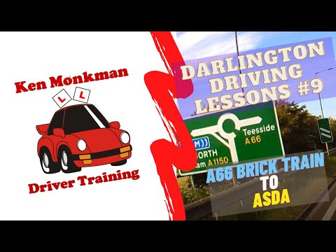 Darlington Driving Lessons #9 Tips To Help YOU Pass The Driving Test A66 Brick Train Towards Asda