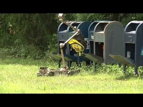 Army Robot Opening Post Office Box