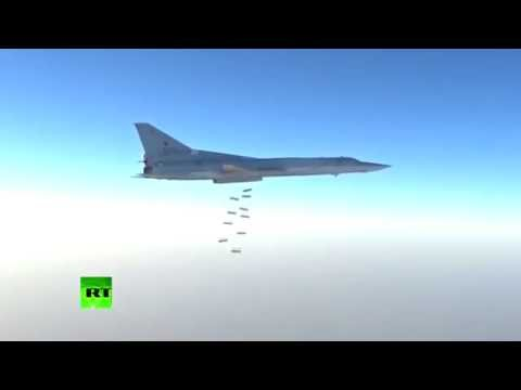 RAW: Russian fighter jets target #ISIS near Deir ez-Zor, Syria