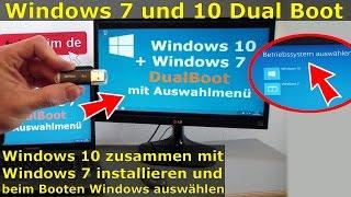 Windows 10 Dual Boot mit Windows 7 | Multiboot Win10 + Win7 gleichzeitig auf einer Platte