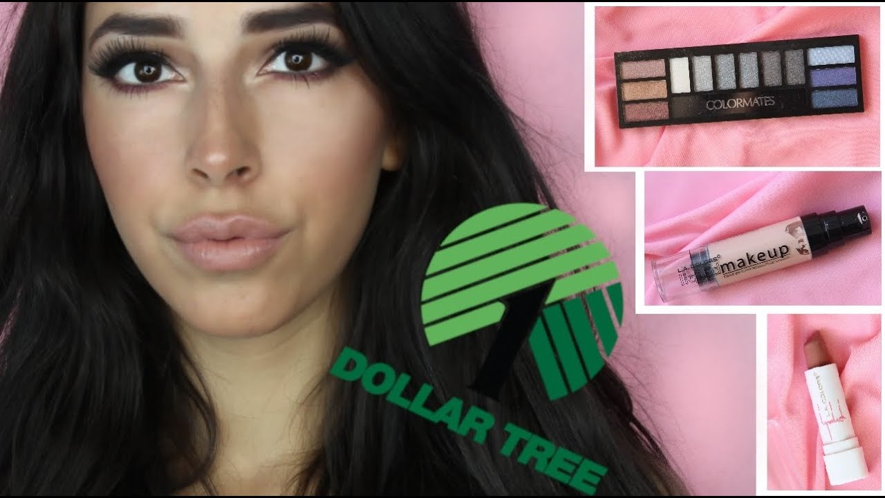 Full Face Dollar Tree Makeup Challenge - YouTube