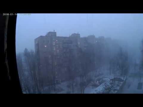 Ледяная пурга! Не могу выйти на улицу! Москву накрыла буря!