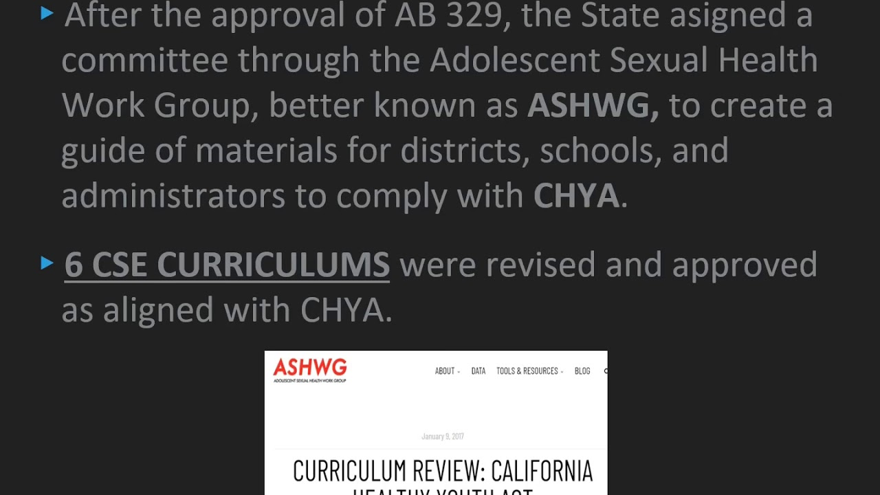 State Approved CSE Curriculums (CA)