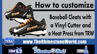 How to make custom Baseball football cleats with a Vinyl Cutter and Heat Press