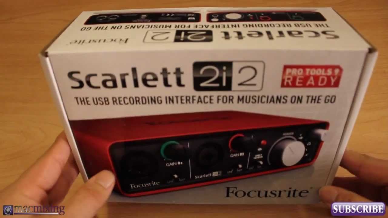 Scarlett 2i2 Unboxing / Review - Focusrite Audio Interface ... Scarlett 2i2