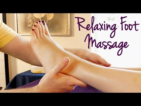 HD Foot Massage Tutorial: How to Massage Feet, Relaxing Music & Spa Techniques, 60 fps