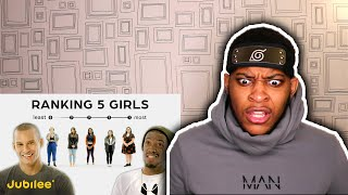 Ranking Women By Attractiveness | 5 Guys vs 5 Girls (Reaction)