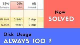 Disk Usage 100 Windows 10 Fix