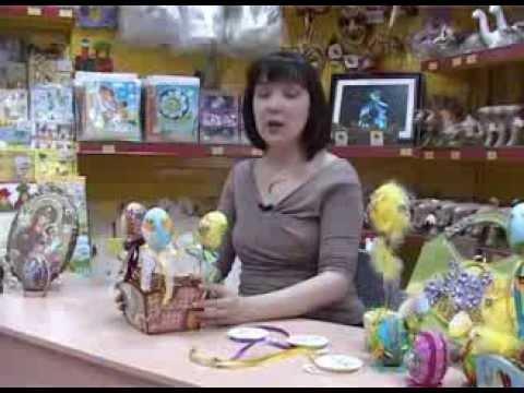 Декупаж пенопластовых заготовок для яиц пасхальными салфеточными мотивами