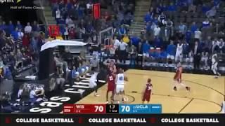 UCLA Freshman Aaron Holiday hits CLUTCH BUZZER Against Wisconsin