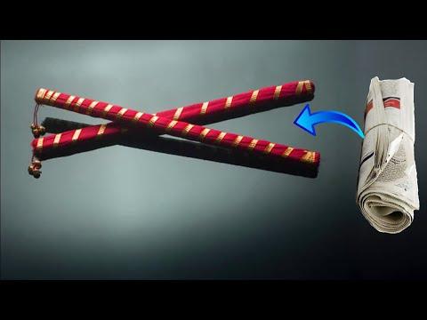 how to make Dandiya Sticks from newspaper,Best out of waste, Making Eco Friendly Dandiya Sticks
