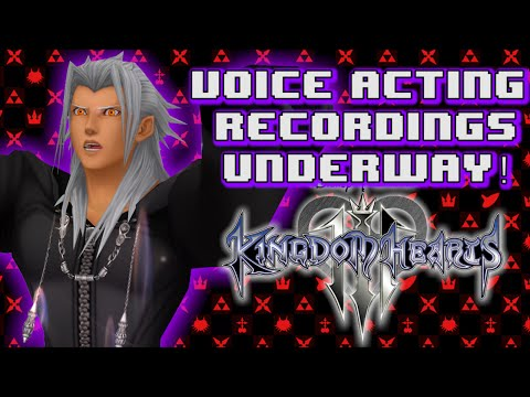 VOICE ACTING RECORDINGS UNDERWAY FOR KINGDOM HEARTS!