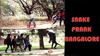 SNAKE PRANK | PRANK IN BANGALORE INDIA |