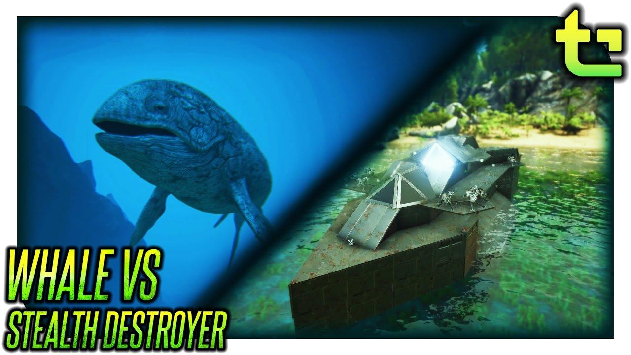 Ark Advanced Raft || Leedsichthys vs Stealth Destroyer || TimmyCarbine