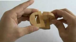 Us$4.36  Heart-to-heart Wooden Lock Educational Puzzle Toys From Tomtop.com