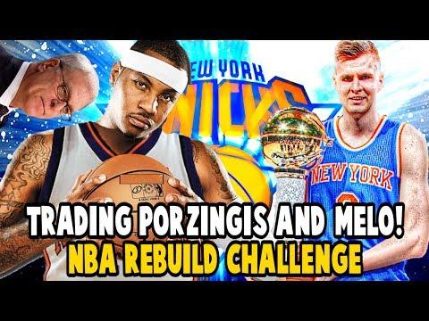 NEW YORK KNICKS TRADING KRISTAPS PORZINGIS?! PHIL JACKSON NBA REBUILD CHALLENGE! NBA 2K17 MY LEAGUE