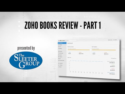 Zoho Books Accounting Software Review / Tutorial - Part 1