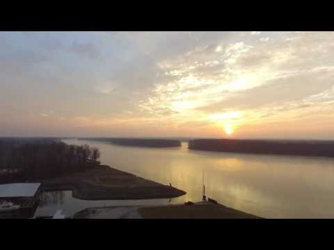 Sunset Mississippi River Port Charles. 2/21/17