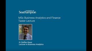 Business Analytics Finance Msc University Of Southampton