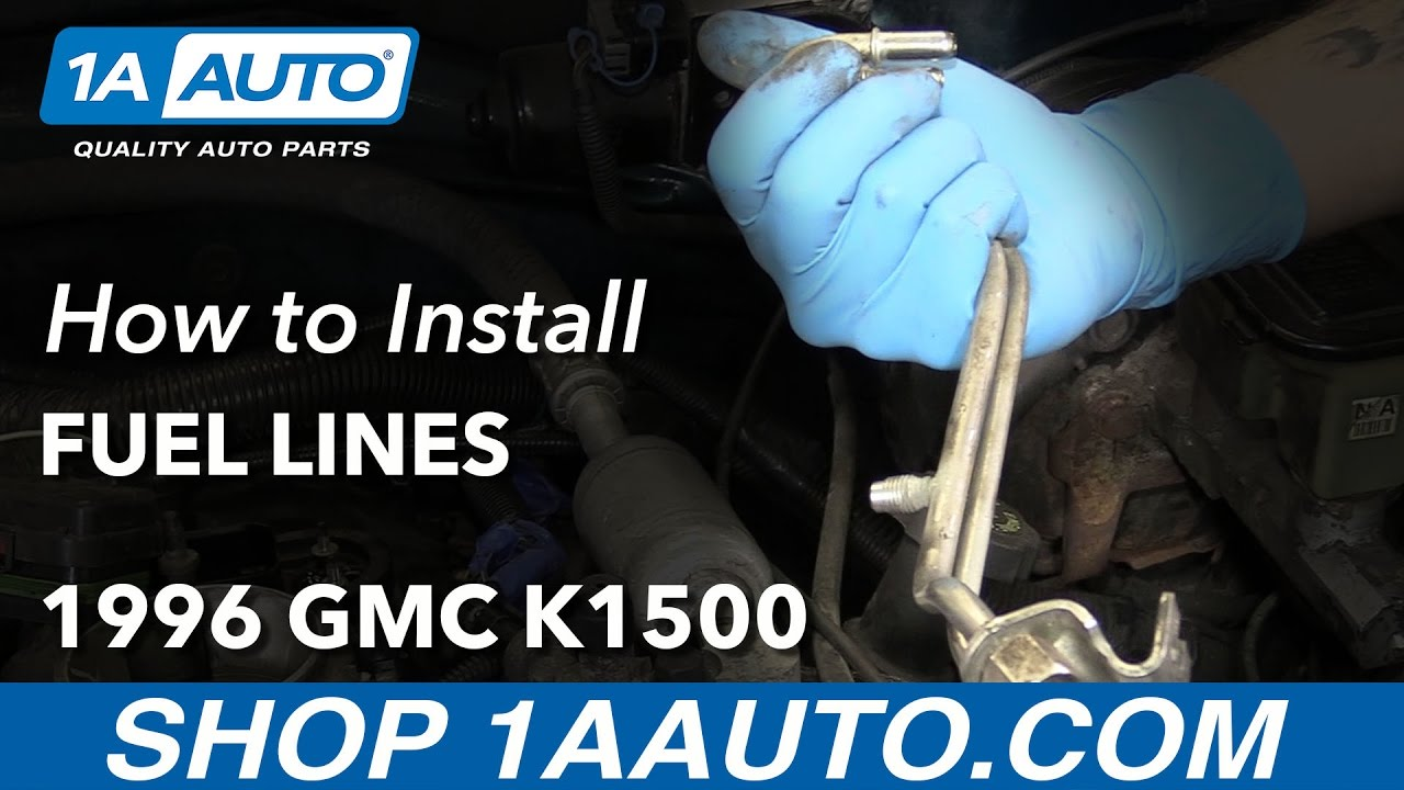 How To Install Replace Fuel Lines 1996 Gmc K1500 57l V8 Youtube 1990 Chevy Silverado Filter Location