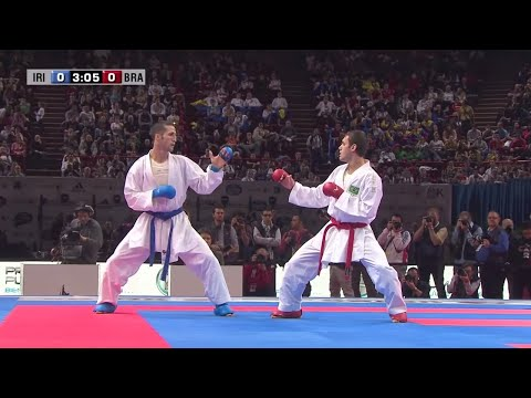 Final Male Kumite -60Kg. Amir Mehdizadeh vs Douglas Santos. World Karate Championships 2012